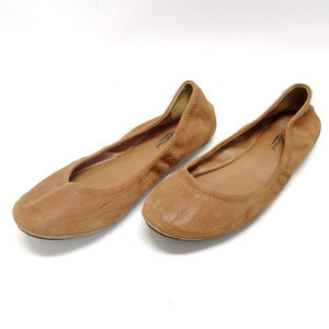 "Lucky Brand ""Emmie"" Leather Ballet Flats"